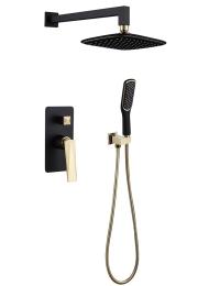 Boheme Venturo 384-B Душевой комплект, черный/золото