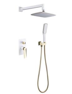 Boheme Venturo 384-W Душевой комплект, белый/золото