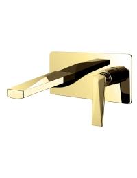Boheme Venturo 385 Смеситель для умывальника из стены, золото