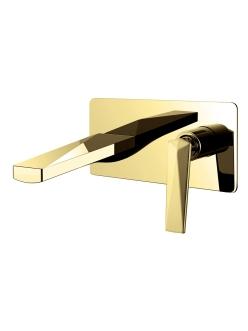 Boheme Venturo 385 Смеситель для умывальника из стены (Золото)