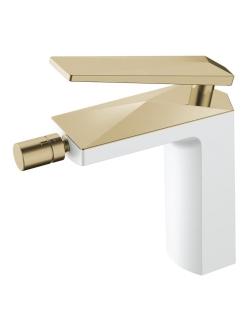 Boheme Venturo 386-W Смеситель для биде однорычажный (Белый/золото)