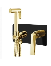 Boheme Venturo 387-B Гигиенический душ со смесителем, черный/золото