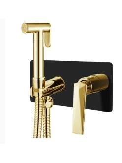 Boheme Venturo 387-B Гигиенический душ со смесителем (Черный/золото)