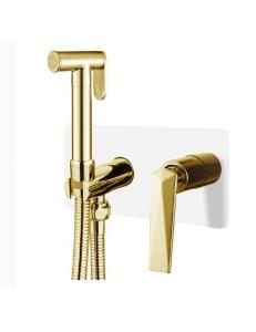 Boheme Venturo 387-W Гигиенический душ со смесителем, белый/золото