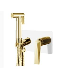 Boheme Venturo 387-W Гигиенический душ со смесителем (Белый/золото)