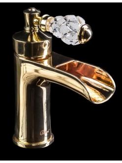 Boheme Vogue Crystal 211-CRST Смеситель для умывальника однорычажный (Золото)