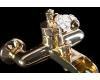 Boheme Vogue Crystal 213-CRST Смеситель для ванны однорычажный (Золото)
