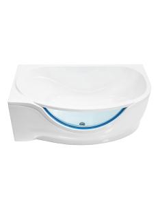 Bretto Olona 170х94 ванна асимметричная в комплекте с каркасом и экраном