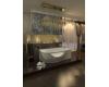 Bretto Olona 170х94 Асимметричная ванна из гелькоута с каркасом и экраном
