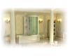 Bretto Tibr 1700x800 Асимметричная ванна из гелькоута с каркасом, экраном и кабиной