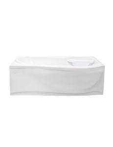 Bretto Tibr 170x80 ванна асимметричная в комплекте с каркасом и экраном