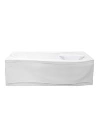 Bretto Tibr 180x80 ванна асимметричная в комплекте с каркасом и экраном