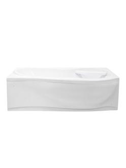 Bretto Tibr 1800x800 Асимметричная ванна из гелькоута с каркасом и экраном