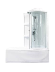 Bretto Tibr 180x80 ванна асимметричная в комплекте с каркасом, экраном и кабиной