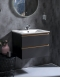 Capolda  65 Anthracite – Тумба с керамической раковиной