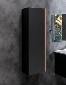 Capolda 35 Anthracite – Пенал для ванной подвесной, 120 см