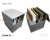 Armadi Art CAPOLDA 85 Латте – Тумба с керамической раковиной