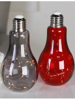 """Стеклянный светильник серого цвета Casablanca Design """"Лампочка"""" арт. 31963"""