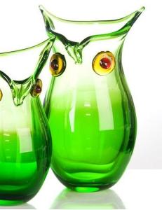 Casablanca Design Ваза большая стеклянная «Сова» арт. 87114