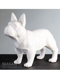 Casablanca Design Керамическая фигурка белая «Бульдог» арт. 96371
