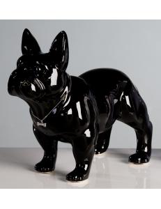 Casablanca Design Керамическая фигурка чёрная «Бульдог» арт. 96372
