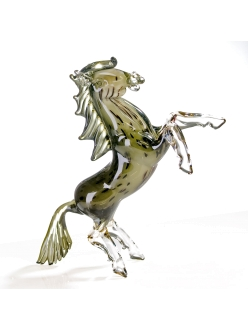 Стеклянная скульптура Casablanca «Конь» арт. 87281