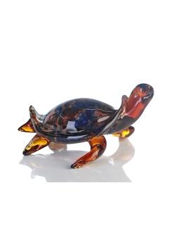 Стеклянная скульптура Casablanca «Черепаха» арт. 87726 (коричнево-сине-оранжевая)