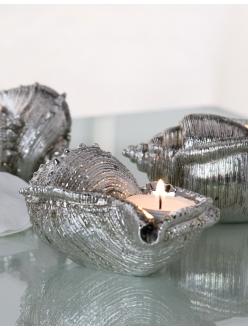 Композиция со свечами Casablanca Design «3 морских ракушки» арт. 59227