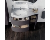 Cezares Moderno Vague 100 Тумба с раковиной, цвет Rovere Tabacco