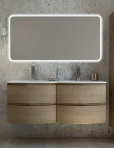 Cezares Moderno Vague 140 Мебель с двойной раковиной, цвет Rovere Tabacco
