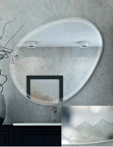 Cezares Moderno 44777 Зеркало для ванной с LED подсветкой, 75х98 см
