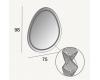 Зеркало для ванной Cezares 44777 асимметричное с подсветкой, 75х98 см