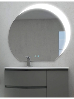 Зеркало для ванной Cezares 45010 с подсветкой и Bluetooth, 100х108 см