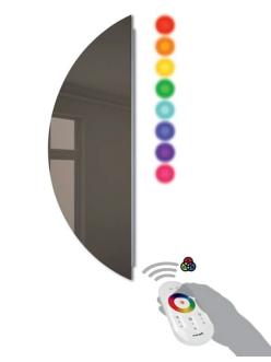 Зеркало для ванной Cezares 45031 с цветной подсветкой, риверсивное, 30х80 см
