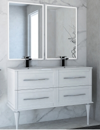 Cezares Classico Tiffany 120 Тумба с раковиной, цвет Bianco Opaco