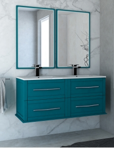 Cezares Classico Tiffany 120 Тумба с раковиной, цвет Blu Petrolio