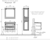 Comforty Феррара 00004151060 – Тумба подвесная 2 ящика 80 см с раковиной