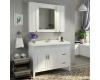 Comforty Палермо 00004142365 – Зеркало шкаф, белый глянец
