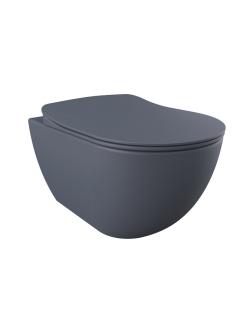 Creavit Free FE320.20100 – Унитаз подвесной с сиденьем микролифт, Базальт матовый