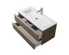 Creto Alba 11-1105TR – Тумба подвесная 2 ящика 100 см с раковиной, Truffle