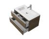 Creto Alba 11-1113TR – Тумба подвесная 2 ящика 80 см с раковиной, Truffle