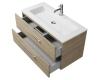 Creto Ares 10-1105D – Тумба подвесная 2 ящика 100 см с раковиной, Davos