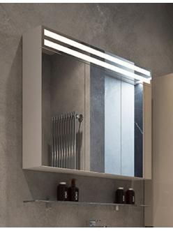 De Aqua Эколь 80 – Зеркальный шкаф для ванной комнаты с подсветкой