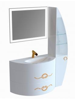 De Aqua Эскалада 100 Правая – Тумба подвесная с раковиной (ESK-ART105 100)