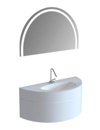 De Aqua Эскалада 117 Подвесная тумба с раковиной без ручки