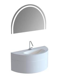 Тумба с раковиной De Aqua Эскалада 117 подвесная без ручки