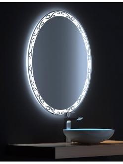 De Aqua Деко – Зеркало для ванной со светодиодной LED-подсветкой и сенсором
