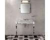 Devon&Devon Claridge – Раковина консоль на металлических ножках с мраморной столешницей, 920х510 мм, 3 отверстия под смеситель, цвет Белый