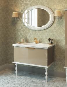 Edelform Decora 100 – комплект мебели для ванной, жемчужно-бежевый