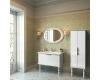 Edelform Decora 59 – Пенал двойной для ванной, белый-глянец